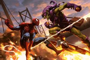Spiderman Vs Goblin Wallpaper