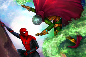 Spiderman Vs Mysterio 4k Wallpaper