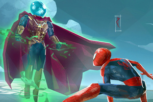 Spiderman Vs Mysterio Art