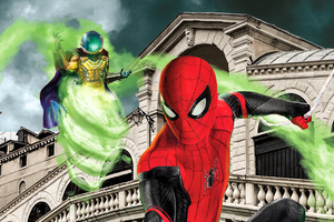 Spiderman Vs Mysterio New Wallpaper