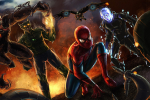 Spiderman Vs Sinister Six Wallpaper