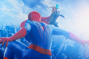 Spiderman Vs Thor Wallpaper
