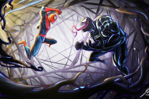 Spiderman Vs Venom 4k