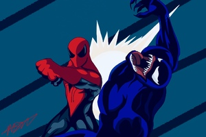 Spiderman Vs Venom Artwork