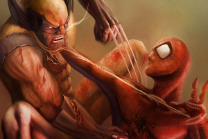 Spiderman Vs Wolverine
