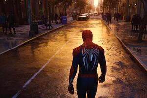 Spiderman Walking In NYC Streets