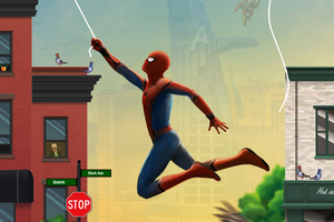 Spiderman Web Shooter Artwork Wallpaper
