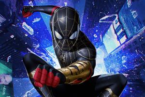 Spiderman With Magic Gauntlet Wallpaper