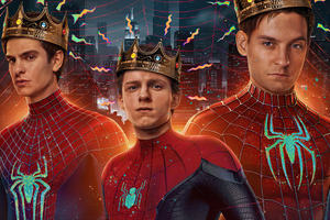 SpiderManNoWayHome Peterparker TobeyMaguire AndrewGarfield TomHolland Spiderverse Wallpaper