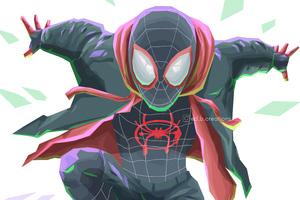 Spiderverse Miles Morales Art 4k