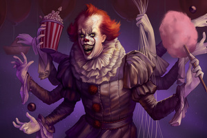 Spiderwise Pennywise Artwork 4k