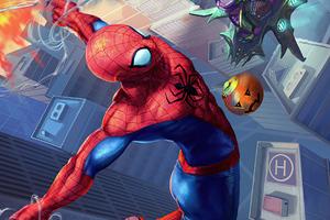 Spidey V Goblin Comic Art 4k Wallpaper