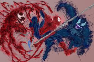 Spidey Venom And Carnage Artwork