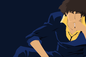 Spike Spiegel Minimalism Wallpaper