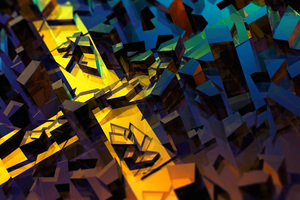 Splinters 3d Abstract HD Wallpaper