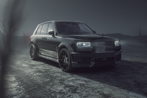 Spofec Rolls Royce Cullinan Black Badge 2021 Wallpaper