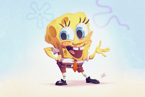Spongebob Art 4k