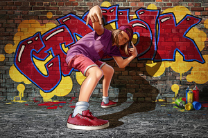 Spray Graffiti Boy 4k