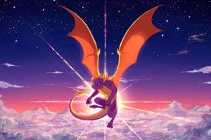 Spyro The Legend Of Spyro 5k Wallpaper