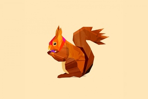 Squirrel Vector Wallpaper