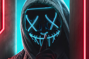 Ssh Mask Glowing Boy 4k Wallpaper