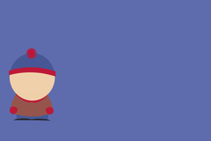 Stan Marsh South Park Minimalism 8k Wallpaper