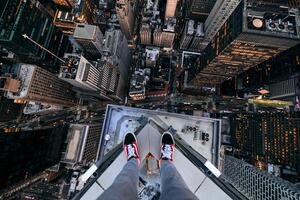 Standing Above New York City 5k Wallpaper