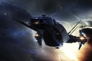 Star Citizen Spaceship 4k Wallpaper