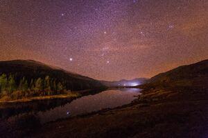 Star Constellations Landscape 4k