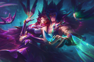 Star Guardian Xayah And Rakan Wallpaper
