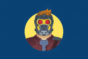 Star Lord 4k Minimalism Wallpaper