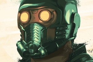 Star Lord Closeup Art