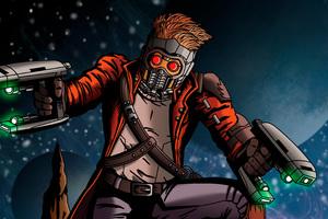 Star Lord Digital Art 4k