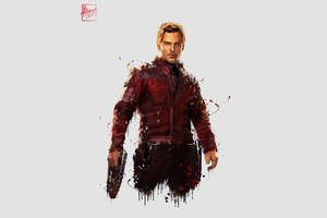 Star Lord In Avengers Infinity War 4k Artwork