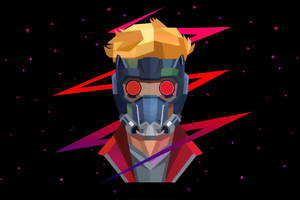 Star Lord Low Poly Wallpaper