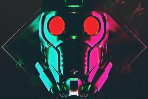 Star Lord Mask 4k Wallpaper