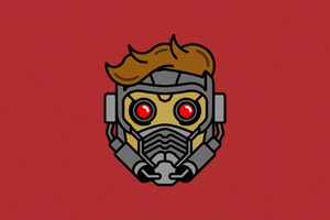 Star Lord Mask Minimal Wallpaper