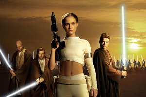 Star Wars Episode II Attack Of The Clones Natalie Portman 4k Wallpaper