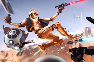 Star Wars Fight Scifi Wallpaper