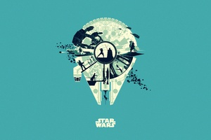Star Wars Minimalism 5k Wallpaper