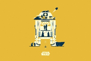 Star Wars Minimalism Art 5k Wallpaper