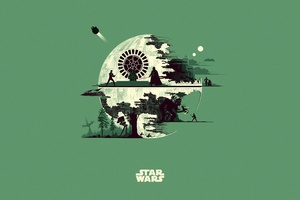 Star Wars Minimalism Artwork 5k Wallpaper