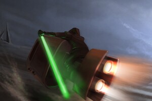 Star Wars Speeder Bike Wallpaper
