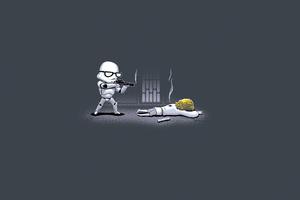 Star Wars Stormtrooper Minimal 4k Wallpaper