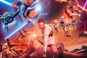 Star Wars The Clone Wars 4k Wallpaper