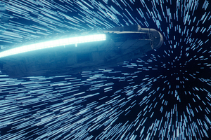 Star Wars The Last Jedi Millennium Falcon Hitting Lightspeed