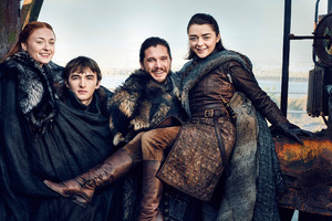 Starks Reunite Game Of Thrones Season 7 Wallpaper