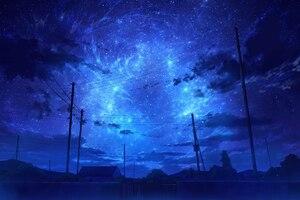 Starry Blue Sky Night 8k Wallpaper