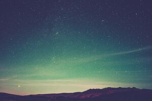 Starry Night Landscape Mountains Wallpaper