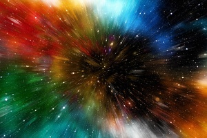 Stars Motion Colorful Abstract 4k